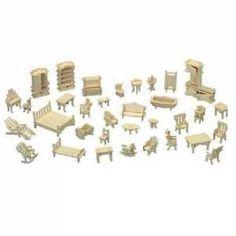 Woodcraft Drevené 3D puzzle Nábytok SET
