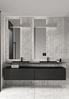 Interior Architecture, Interior And Exterior, Bathroom Toilets, Washroom, Toilet Design, Apartment Interior Design, Mirror, Behance, Adobe Photoshop