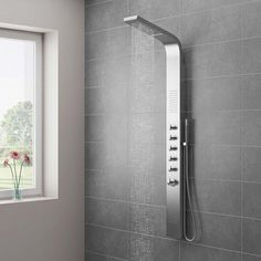 Ventura Modern Stainless Steel Tower Shower Panel (Thermostatic)