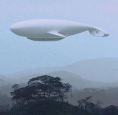 Manned Cloud is a blimp-shaped whale. It was developed by the architect and designer Jean-Marie Massaud, in collaboration with the french aerospace agency ONERA. It will be a flying hotel can accommodate 40 people: