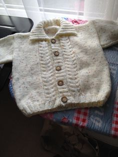 Hand Knitted Baby Cardigan 1  2 years Gift by KnitSewMake on Etsy, £12.50