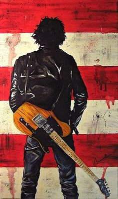 Bruce Painting - Bruce Springsteen by Francesca Agostini Bruce Springsteen 1 Painting by Francesca Agostini Kid Rock, Rock N, Bruce Springsteen Quotes, The Boss Bruce, E Street Band, Dancing In The Dark, Born To Run, Bob Seger, Hit Songs
