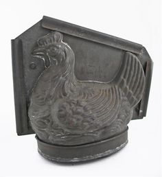 Early French Chocolate Mold Hen Animal Large Holds1.25 Liter SOMMET Mark # 1305