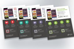 Mobile App Promotion Flyers by Rongbaaz on @creativemarket