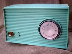 I need a radio like this to match my aqua rotary phone and aqua antique typewriter!