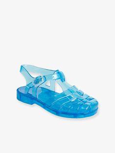 52fbf76be1c Sandales de plage en plastique bébé garçon turquoise - Les petites