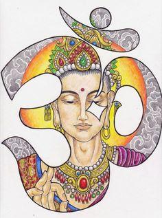 Ohm Buddha by fatdumpling on DeviantArt Chakras, Namaste, Amor Universal, Yoga Am Morgen, Om Sign, Om Shanti Om, Hippie Festival, Yoga Art, Hamsa
