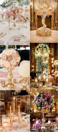 vintage wedding centerpiece ideas with candlesticks #vintagewedding #weddingideas #weddingcenterpieces #weddingdecors