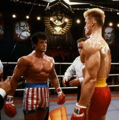 😂 Ivan is so much taller that Rocky! But Rocky looks stronger. Rocky is smart and tires him out to win! Rocky Balboa, Sylvester Stallone, Pulp Fiction, Rocky Stallone, Best Bodybuilding Supplements, Bodybuilding Fitness, Rocky Poster, Action Movie Stars, Action Films