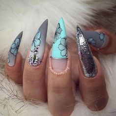 Health & Beauty Enthusiastic Curved Unicorn Chrome Nails Art Tips Glamour Pointed Stiletto Mirror Adult Uk Elegant Shape