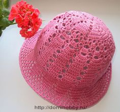 Summer Hat free crochet pattern   but its in russian ugg.. would love this pattern.