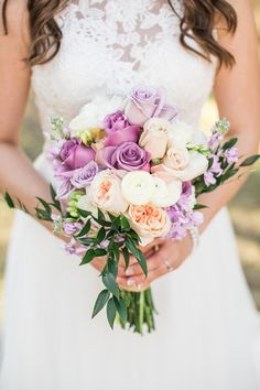 Purple Wedding Flowers purple peach and white wedding bouquet More - Free Equestrian Wedding Templates And Ideas designed by Kio Kreations and photographed by Hazelton Photography. Peach Purple Wedding, Rustic Purple Wedding, Purple Wedding Bouquets, Modern Wedding Flowers, Flower Bouquet Wedding, Wedding Colors, Bridal Bouquets, Flower Bouquets, White Bouquets