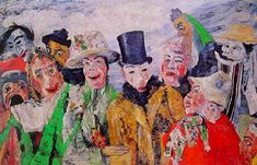 James Ensor 'The Intrigue' 1890 Oil painting
