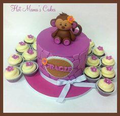 Monkey baby shower - by hotmamascakes @ CakesDecor.com - cake decorating website