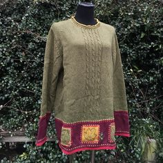 NWT tweed all of combo sweater by Erika sz XL This sweater is absolutely gorgeous oversized comfortable,  perfect for winter has a crochet like patchwork as pictured . Size extra-large and brand-new with tags Erika Sweaters