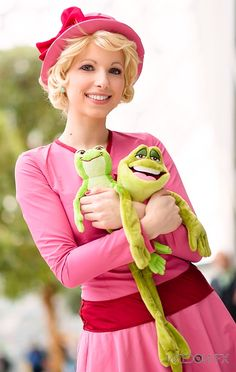 "Frog friends by Rayi-kun.deviantart.com on @deviantART - Lottie from ""The Princess and the Frog"""