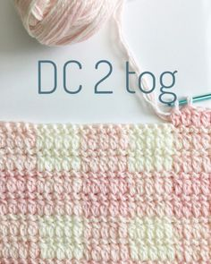 DC2tog Stitch - Daisy Farm Crafts