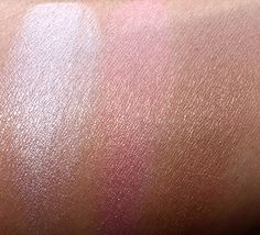 NARS NARSissist Cheek Palette Swatches from the left: Devotee, Orgasm and Laguna