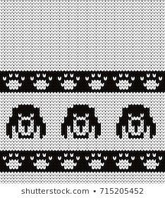 Portfólio de Gala titmouse no Shutterstock Fair Isle Knitting Patterns, Knitting Charts, Sewing Patterns, Mittens Pattern, Dog Pattern, Double Knitting, Lace Knitting, Fair Isle Chart, Cross Stitch Beginner