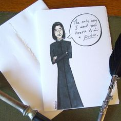 Snape unValentine - Greeting Card - Harry Potter Parody. $6.00, via Etsy.
