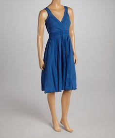 Another great find on #zulily! Royal Blue Embellished V-Neck Dress #zulilyfinds               16.99