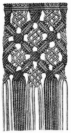 FIG. 566. MACRAMÉ GROUND.