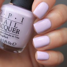 OPI I'm Gown For Anything nail polish on beautiful, square natural nails. Love this creamy, opaque lavender color, especially for the summer months.