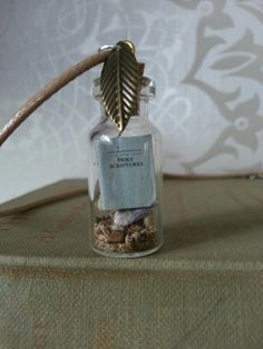 Mini bible in bottle. International convention gifts for delegates jw