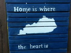 Rustic Kentucky pallet sign.  Kentucky Home by TeesTransformations