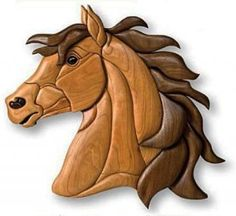 Интарсия Лошадь Wood Carving Designs, Wood Carving Art, Intarsia Woodworking, Woodworking Patterns, Clay Wall Art, Wood Wall Art, Cement Crafts, Wood Crafts, Intarsia Wood Patterns