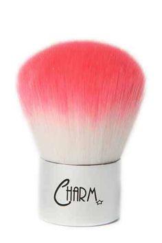 A kabuki brush with pink vegan hair! So cute.