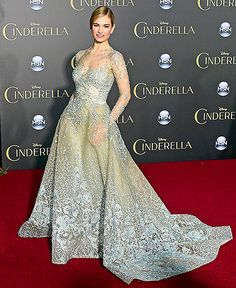 Lily James Is Real-Life Cinderella at Premiere: Red Carpet Dress Pics - Us Weekly THIS dress is too gorgeous!