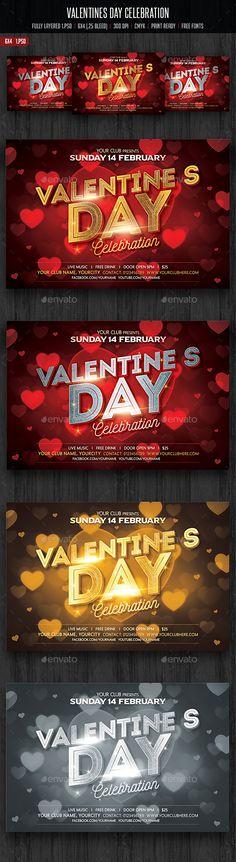 Valentines Day Flyer Template PSD #design Download: http://graphicriver.net/item/valentines-day-flyer/14346420?ref=ksioks