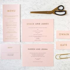 Give your guests a hint of what's to come with these beautiful foil printed wedding invitations. The whole stationery set from E.Y.I.Love is perfect for rose gold fans.