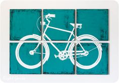 Vintage Bicycle Painting Collection  Large Artwork by RightGrain, $165.00