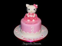 How to make Hello Kitty cake topper tutorial / Jak zrobić figurkę Hello Kitty z masy cukrowej - YouTube