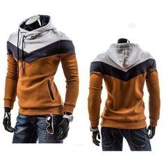 Hoodie with Stripes (6 colors) Robe, Sweats À Capuche Pour Homme, Sweater 45293bc8545