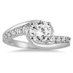 https://ariani-shop.com/1-1-3-carat-diamond-engagement-ring-in-14k-white-gold 1 1/3 Carat Diamond Engagement Ring in 14K White Gold