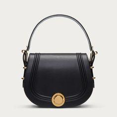 ECLIPSE SADDLE SMALL - BLACK CALF Shoulder Bags