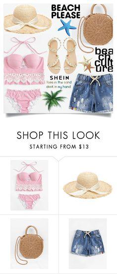 Beach Please: Vacay Outfit Striped Bikini, Bikini Set, My Style, Beach, Polyvore, Stuff To Buy, Outfits, Shopping, Romwe