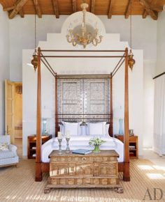 Four Poster Bed Bedroom Design. Four Poster Bed Bedroom Design. Modern Bedroom Four Poster Bed Black and White Bedroom Architectural Digest, Four Poster Bedroom, Bedroom Posters, Poster Beds, Exotic Bedrooms, Beautiful Bedrooms, Luxury Bedrooms, Luxury Bedding, Mexico House
