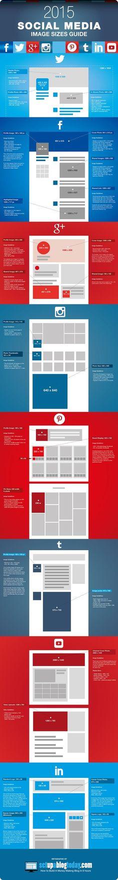 Excelente gabarito de imagens para várias redes sociais! Awesome image guide for major social networks!