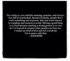 The reality is ...