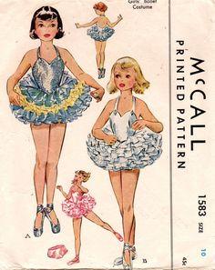 McCall 1583 1950s Girls Ballerina Ballet Costume by mbchills
