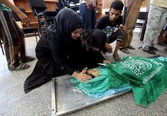 A child killed due to Israeli bombardment.