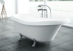 Exkluzív szabadonálló kádak a Marmorintól! FAMA #marmorin #exclusive #bathtube #bathroom #bath #design #freedom #beauty #white #minimal #style #idea #romantic #vintage