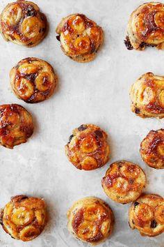 Upside Down Banana Chocolate Chip Muffins