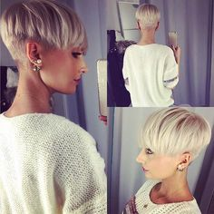 Blonde Pixie Cut with an Undercut....if you have the neck and jawline for this, go for it!