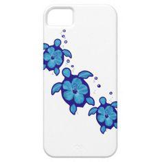 3 Blue Honu Turtles iPhone 5 Cover