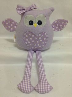 Baby Sewing Projects, Sewing For Kids, Sewing Crafts, Owl Crafts, Baby Crafts, Kids Pillows, Animal Pillows, Handmade Stuffed Animals, Fabric Animals